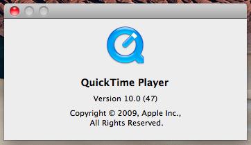 QuickTime Version 10.0