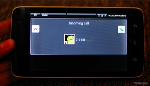 Dell Streak - Incoming Call
