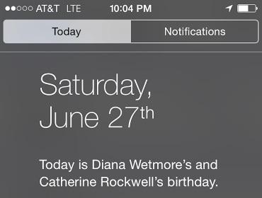 Today View Birthdays