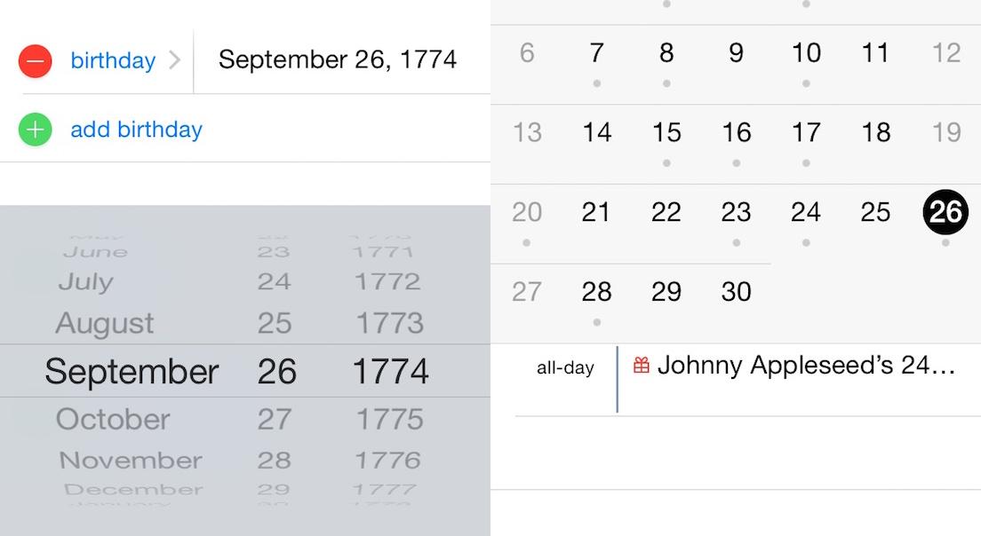 Adding Birth Dates