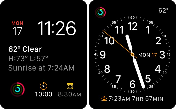 Apple Watch Faces, Modular and Utility