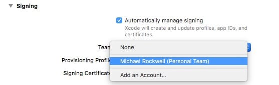 Xcode Application Signing