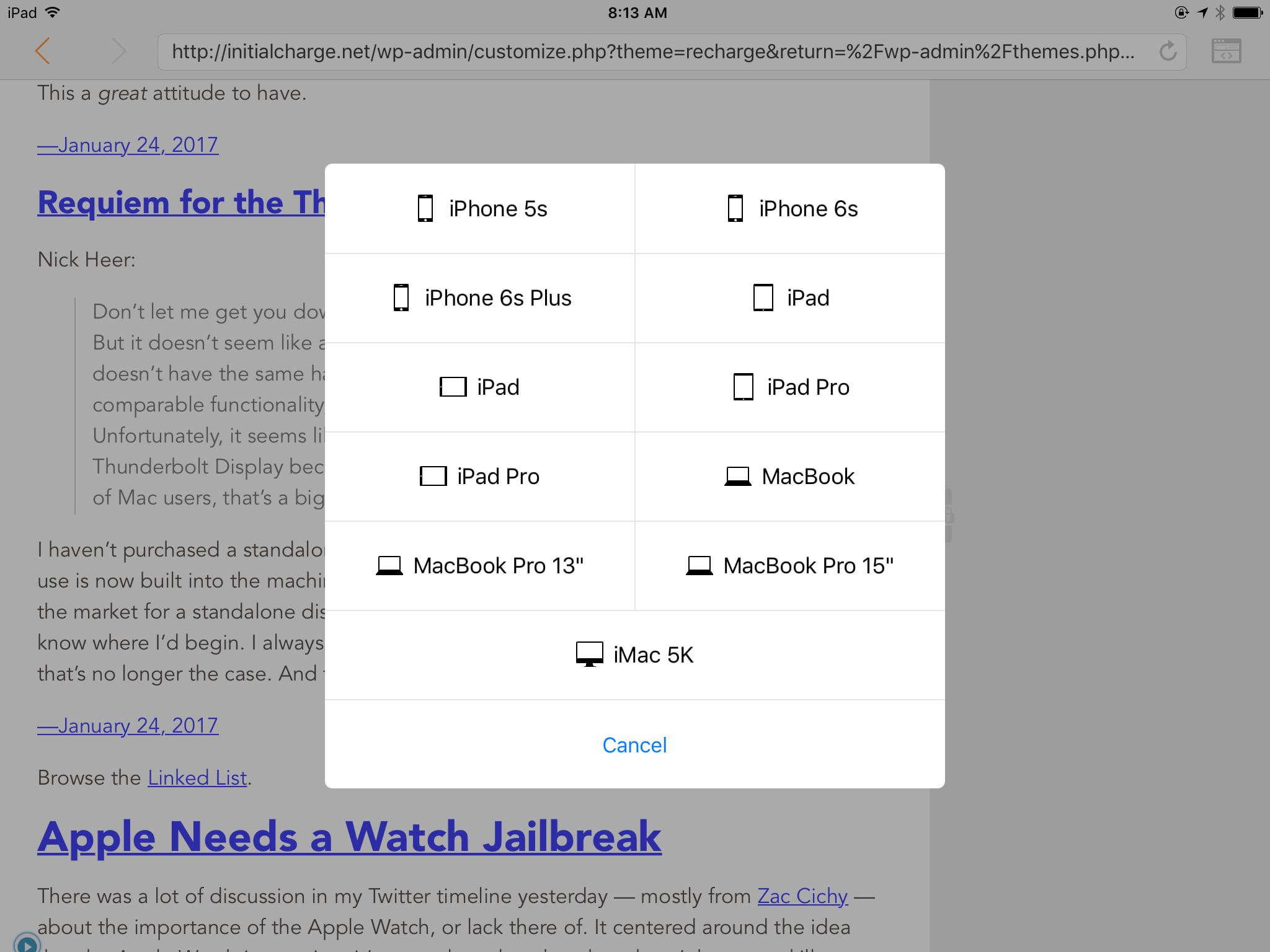 Web Tools' Presets