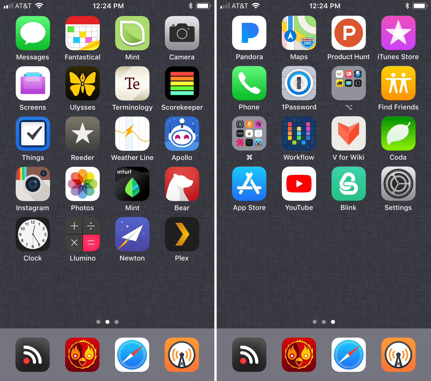 iPhone Home Screens