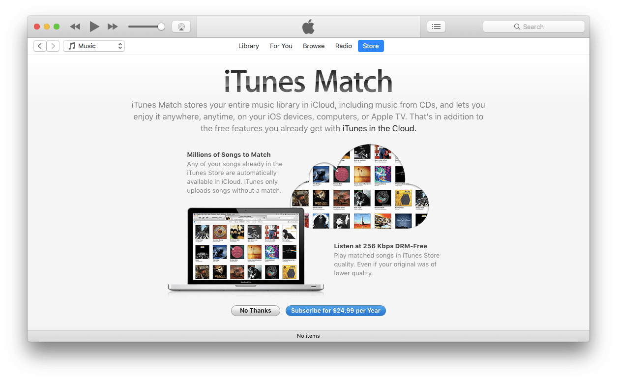 Subscribe to iTunes Match