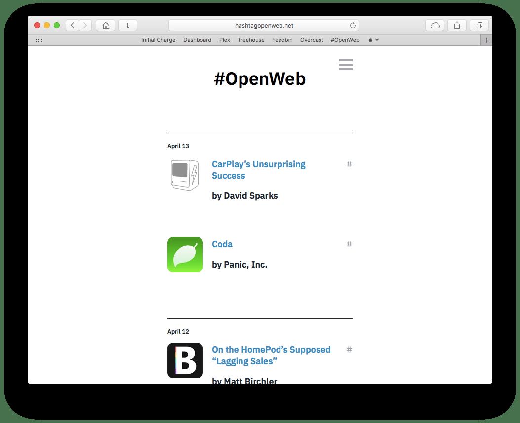\#OpenWeb