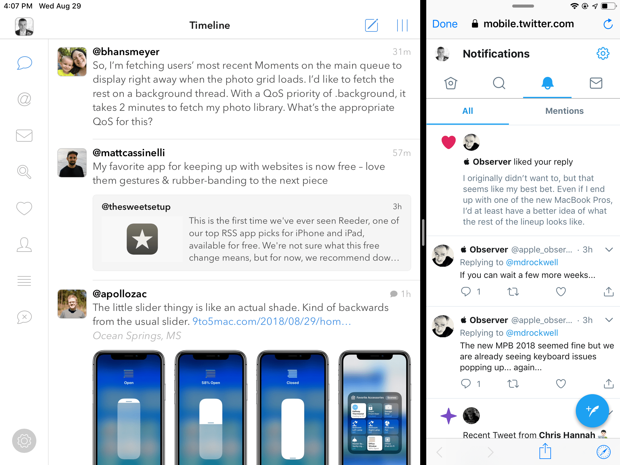 Tweetbot with Sidefari
