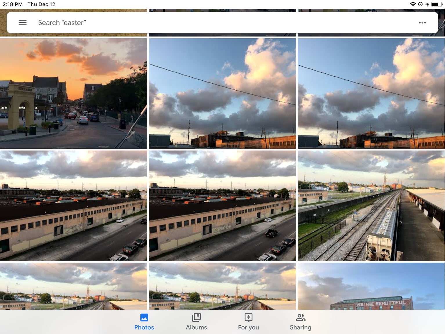Google Photos on iPad
