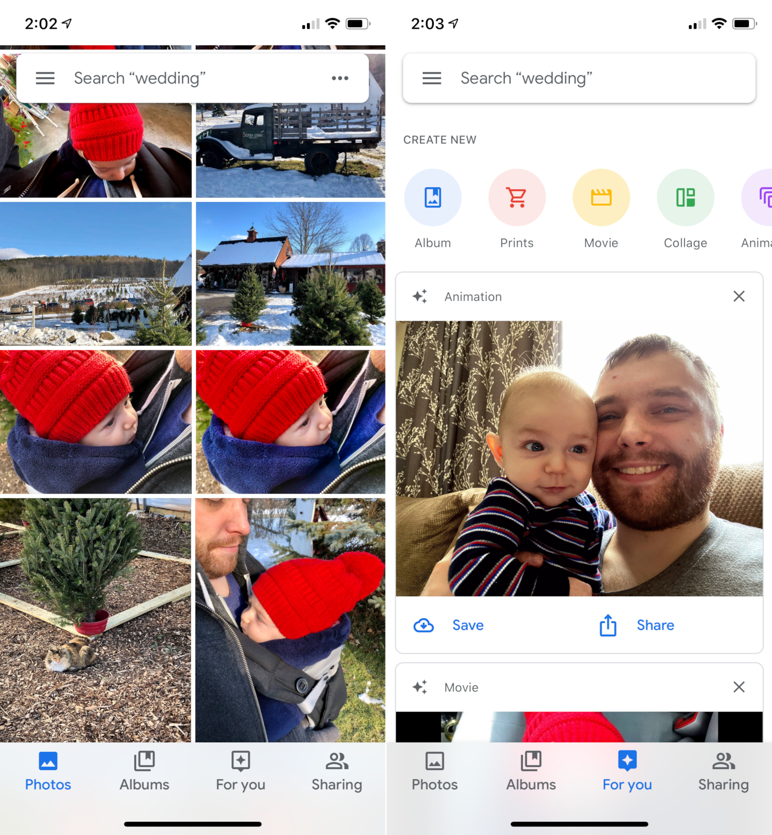 Google Photos on iPhone